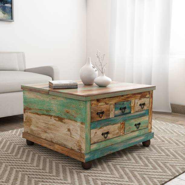 THE ATTIC Rustic Solid Wood Coffee Table