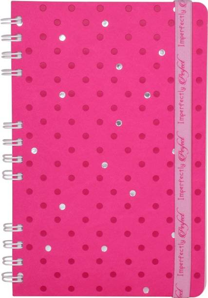 doodle Imperfectly Perfect Notebook with Printed Elastic Band A5 Diary Ruled 160 Pages