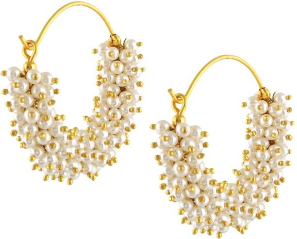 9a907bfdb797c Divastri Wedding Traditional Moti Jhumka earrings for girls women gold  plated Fancy Party wear stylish Pearl