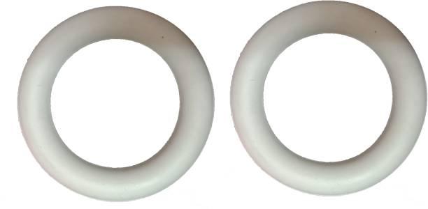 Arnav Frisbee Ring Traditional Garden Throwing White Outdoor Pack of 2 Pcs Rubber Tennikoit Ring