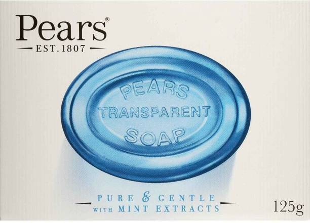 Pears Transparent Soap- Pure & Gentle with Mint Extracts