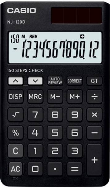 CASIO NJ-120D-BK Portable Basic  Calculator