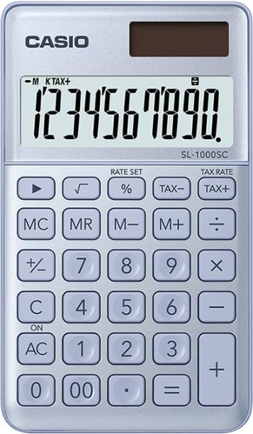 CASIO SL-1000SC-BU Portable Basic  Calculator