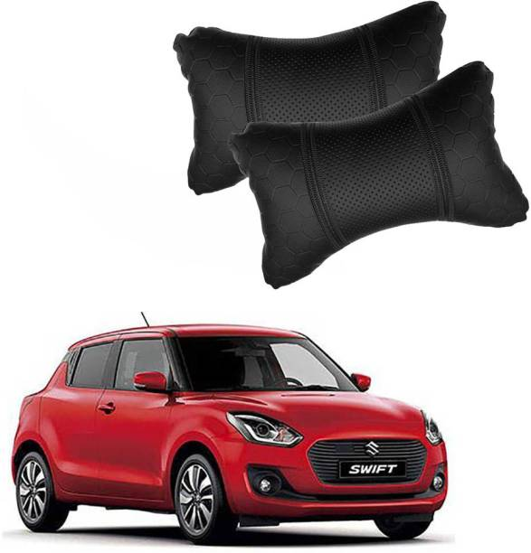 KANDID Black Leatherite Car Pillow Cushion for Maruti Suzuki