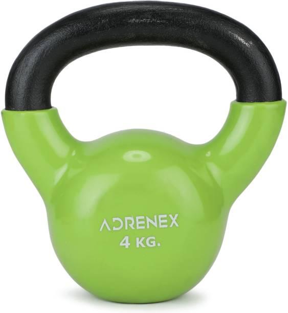 Adrenex by Flipkart 4kg Vinyl Coated, Anti Slip Kettlebell
