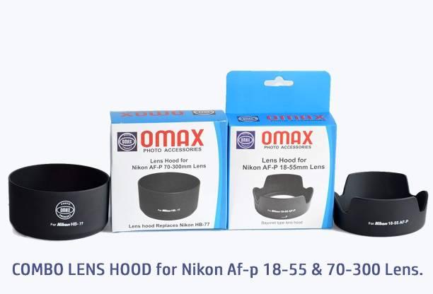 OMAX lens hood for nikkor af-p 18-55mm & 70-300mm lens combo offer  Lens Hood