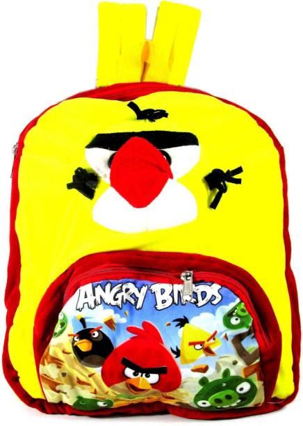 ehuntz Angry Bird 3D embossed with digital print (Play school & Pre Nursery) school Bag (EH1435) School Bag
