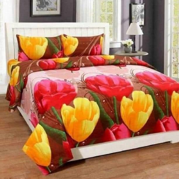 New Click Shop 150 TC Polycotton Double Floral Bedsheet