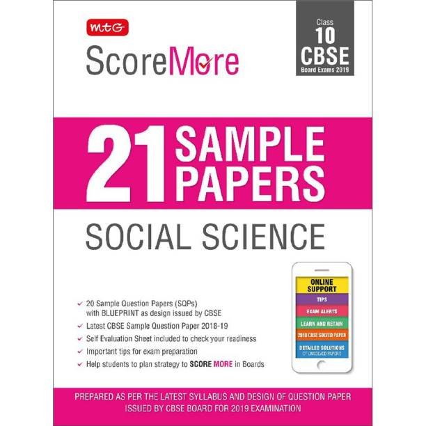 Scoremore 21 Sample Papers Social Science Class-10