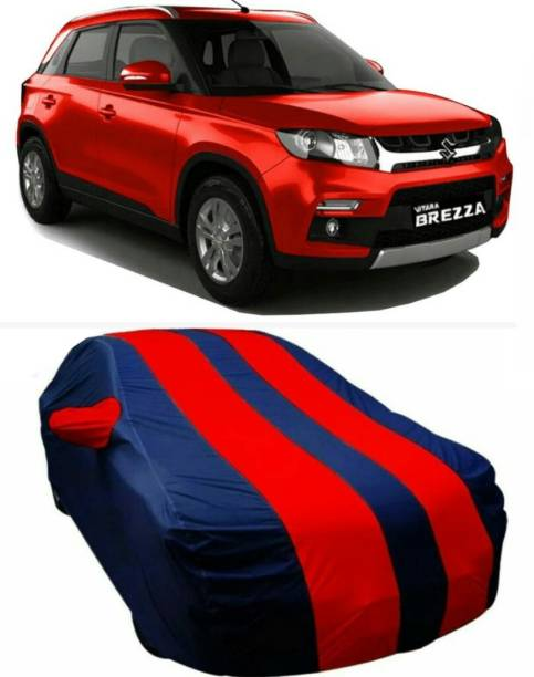 AUCTIMO Car Cover For Maruti Suzuki Vitara Brezza (With Mirror Pockets)