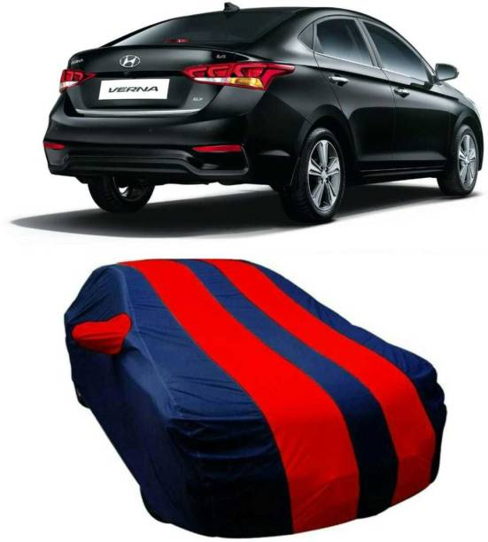 AUCTIMO Car Cover For Hyundai Verna (With Mirror Pockets)