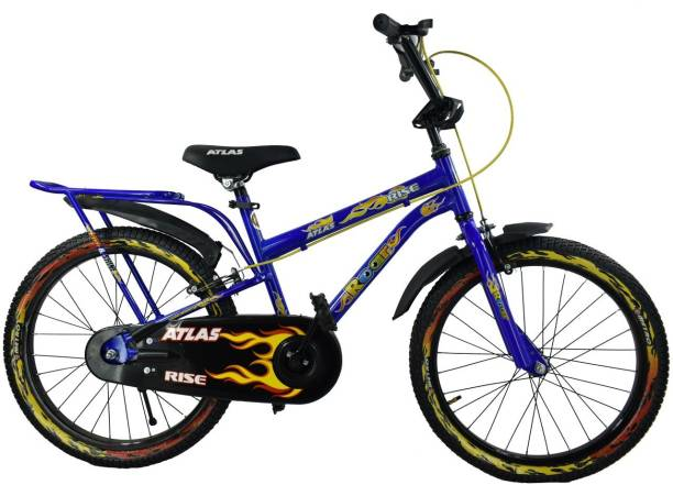 e2960939ed1 Atlas Rise Bicycle For Kids Of Age 5-8Yrs Blue&Yellow 20 T Recreation Cycle