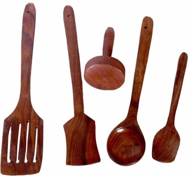 CraftOnline wooden kitchen cooking spoonset Wooden Wooden Spoon Set
