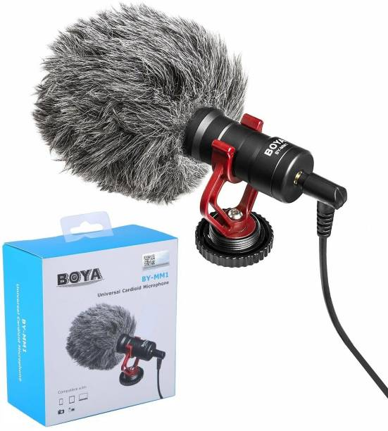 BOYA Universal Cardioid Microphone Mic For Recording , Youtube , Audio Recorder , Dslr Camera , Film Electronics Device Microphone