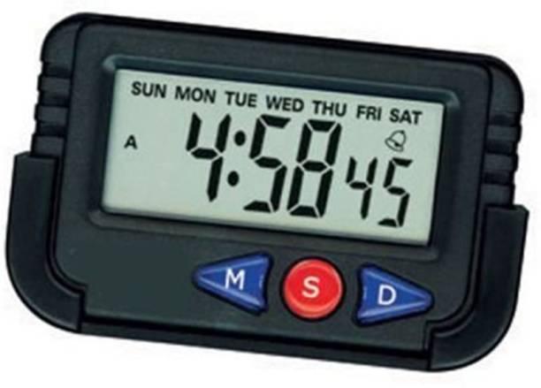 Just Rider Digital Black Clock