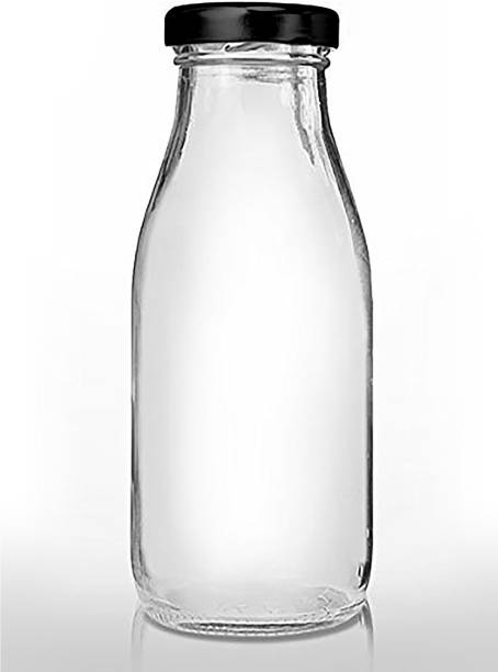 CRAZYINK Hygienic Air Tight Italian Glass Water/Milk/Juice Bottle with Air Tight Cap 500 ml Bottle