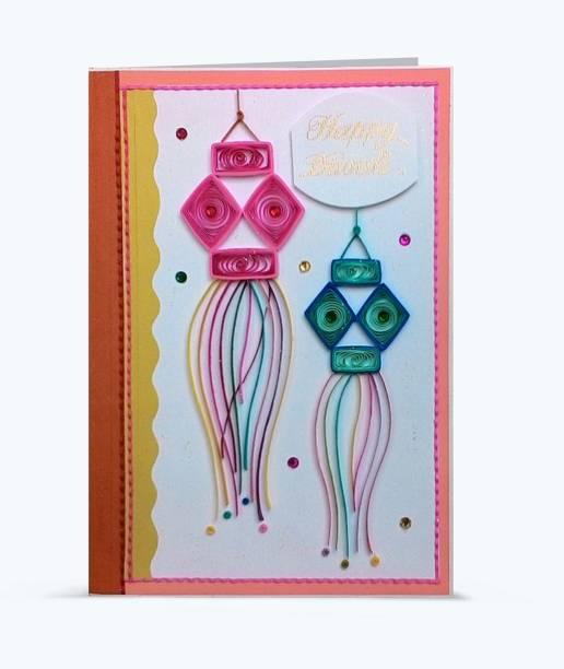 Swapnil Arts Handmade 3D Happy Diwali Greeting Card