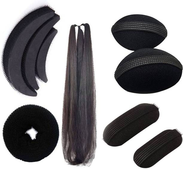 VinshBond Set of 9 Hair Accessories for Women/Girls Weding and Festival for Bun Making and puff maker Hair Accessory Set