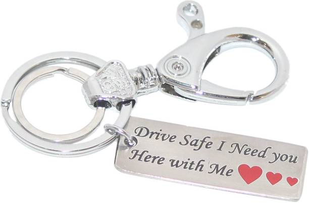 879d40061 Aura Imported Full Metal Single Sided Drive Safe Engrave Keyring For Women  & Men Key Chain