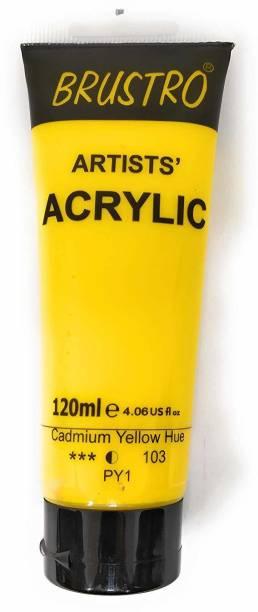 Brustro Artists' Acrylic 120ml Cad Yellow Hue