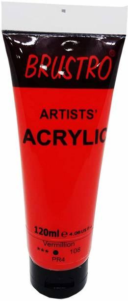 Brustro Artists' Acrylic 120ml Vermillion