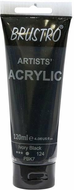 Brustro Artists' Acrylic 120ml Ivory Black