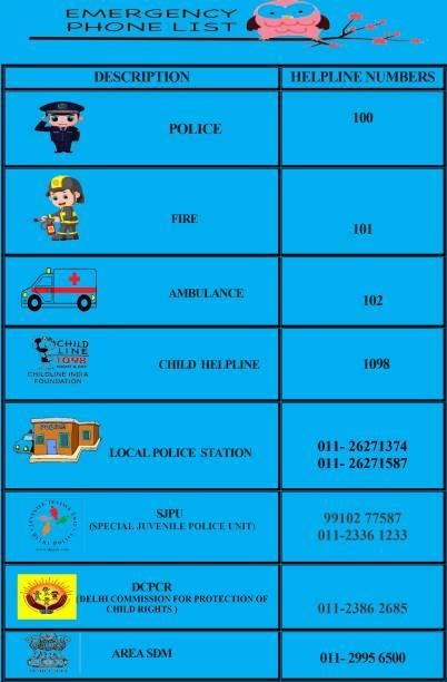 emergency phone list posters buy