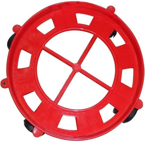 Online Trading Strong Plastic Gas Cylinder Trolley With Wheel | Gas Cylinder Trolly || Gas Trolly | Lpg Cylinder Stand | Gas Trolly Wheel |Cylinder Trolley with Wheels | Cylinder Wheel Stand- Gas Cylinder Trolley (Red) 1 set Gas Cylinder Trolley