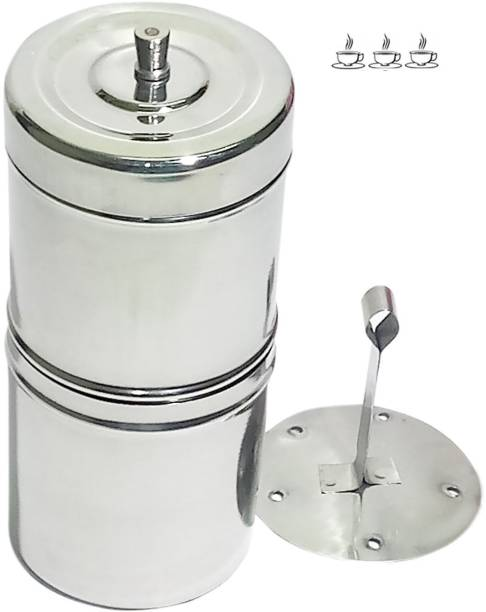 Everyday Stainless Steel Filter Coffee Decoction Maker Up to 3 cups Premium Quality Filter Coffee Drip maker Indian Coffee Filter