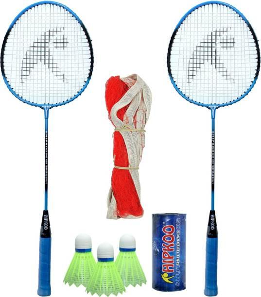Hipkoo Sports HR 15 Badminton Combo With Badminton Bag (2 Rackets, Net, Shuttlecock Pack Of 3) Badminton Kit