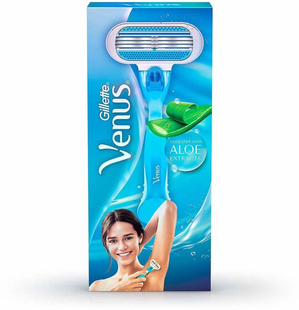 GILLETTE New Venus Breeze,Glide Strip With ALOE Extracts Hair Removal Razor for Women