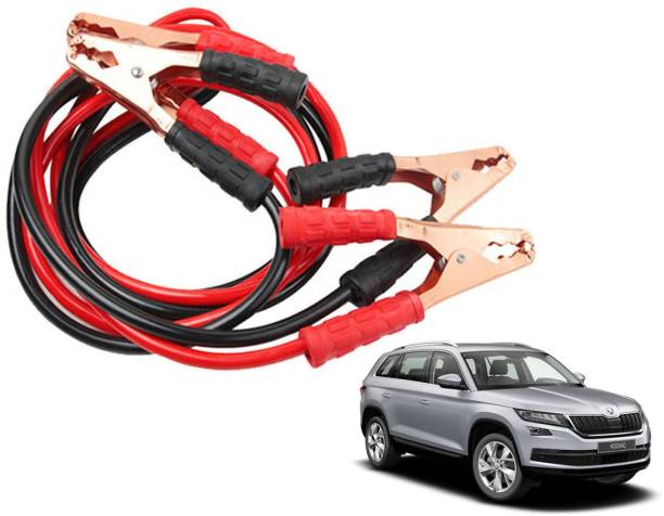 Roy Imaging Car Heavy Duty Jumper Cable Leads Battery Booster 500 Amp RY018 7.5 ft Battery Jumper Cable