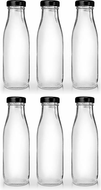 CRAZYINK Hygienic Air Tight Italian Glass Water/Milk/Juice Bottle with Air Tight Cap  1000 ml Bottle