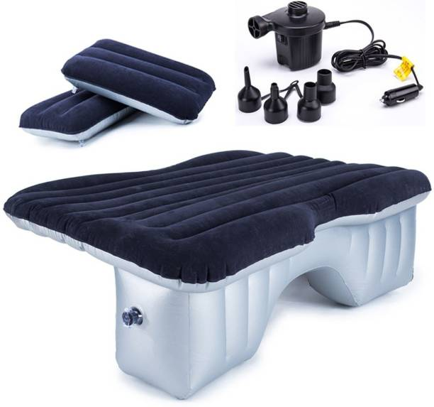 HSR Multifunctional Inflatable Car Bed Mattress with Two Air Pillows, Car Air Pump with Travel kit(neck Pillow, Eye mask and 2 Ear Buds) Inflatable Mattress Air Bed for Car Interior Car Inflatable Bed