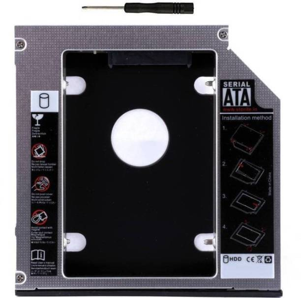 HexaGear 100% Original Heavy 12.7mm Universal 2nd bay Caddy for CD/DVD-ROM - Expand your data storage on your Laptop with 2.5 Internal Hard Drive Enclosure Hard Drive SATA 2nd HDD Caddy Tray Internal Optical Drive