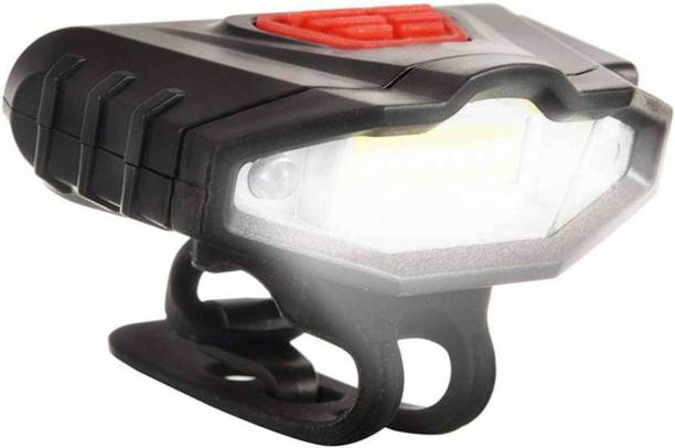 SHIVEXIM USB Rechargeable Super Bright Front Light with Red/Blue Warning Light Feature LED Front Light LED Front Light