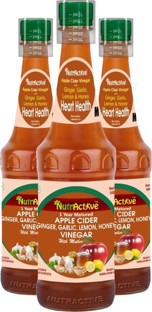 NutrActive Vinegar for Heart Health | Ginger, Garlic, Lemon & Honey Vinegar