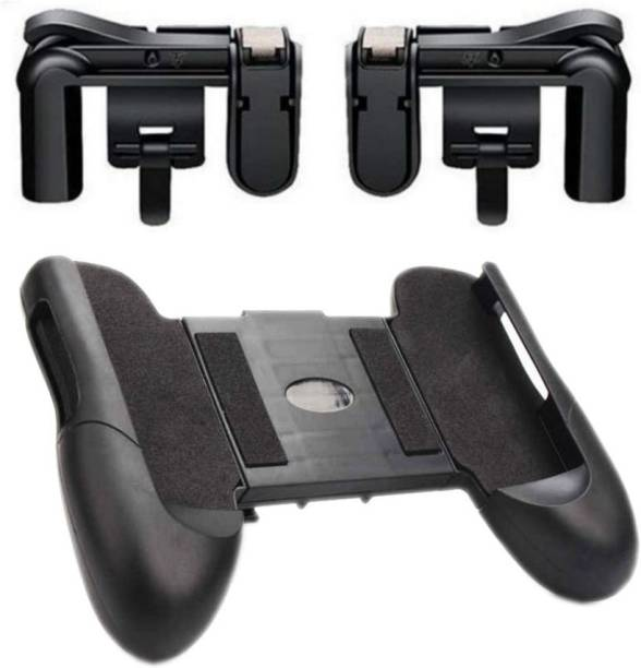 Anweshas PUBG Mobile Game Controller Holder Stand Joypad and 1 Pair Gaming Trigger Fire Button Aim Key For Rules of Survival, Battle Royale L1R1 Sensitive Shoot and Aim Gift Gaming Accessory Kit  Gaming Accessory Kit