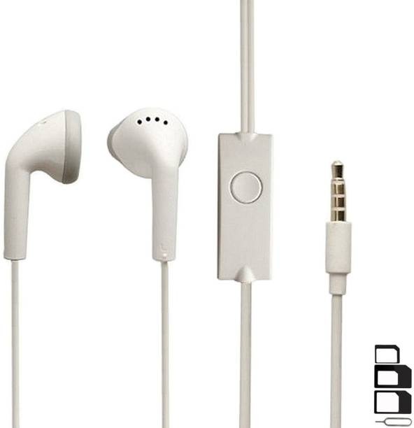 ShopMagics Headphone Accessory Combo for Gionee Elife S6, mPhone 8, HTC 10, Elephone P9000, ZTE Blade V7 Max, Smartron t.phone, Gionee Elife S Plus, HTC 10 Lifestyle, Asus Zenfone 3 Deluxe, Nokia 7.1 Plus, Xiaomi Poco F2, Samsung Galaxy S10, Lenovo S5 Pro, Samsung Galaxy J8 Plus, Huawei Nova 4, Xiaomi Mi Max 3, Qin 1s AI Phone, Lenovo Z5s Earphones Original Like Headsets In-Ear Headphones Wired Stereo Bass Head Earbuds Hands-free With Mic, 3.5mm Jack