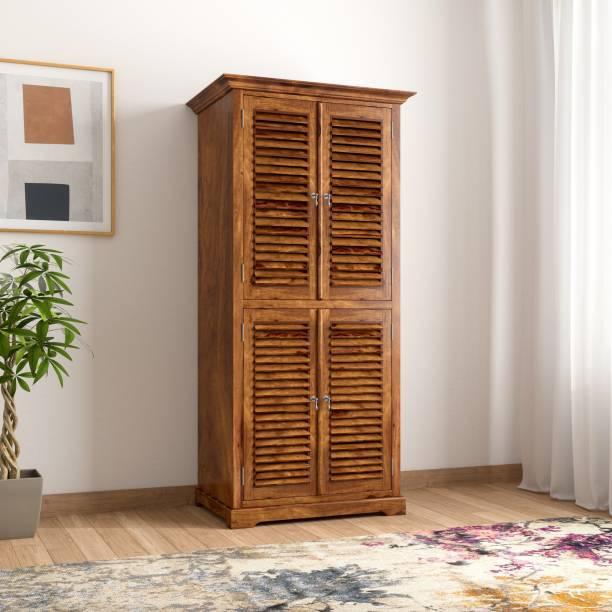 THE ATTIC Sheesham Wood Solid Wood 2 Door Wardrobe