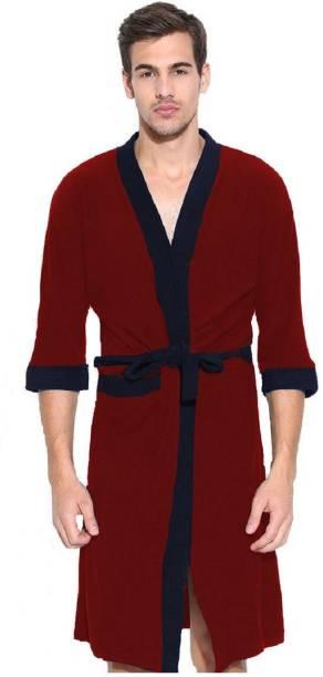 Flipkart SmartBuy Red Free Size Bath Robe