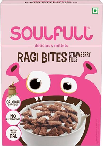 SOULFULL Strawberry Fills Flavoured Ragi Bites