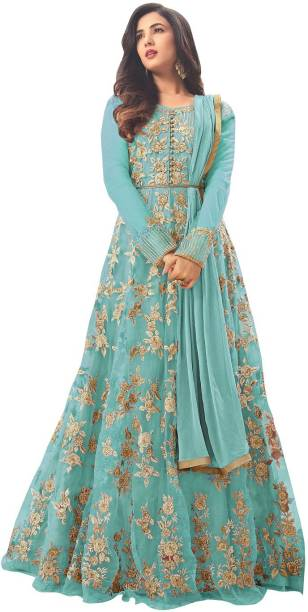 b48b081ffc Fashionuma Net Embroidered Semi-stitched Salwar Suit Dupatta Material