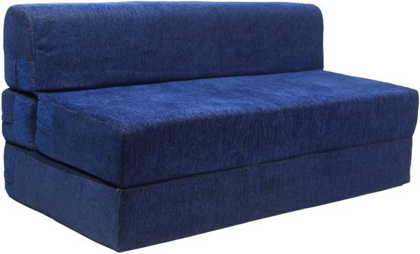 uberlyfe 3 Seater Sofa Cum Bed - Perfect for Guests - Chennile Fabric Washable Cover - Dotted Blue  6' X 6' Feet.(SCB-001734-DOT-BL) Double Sofa Bed