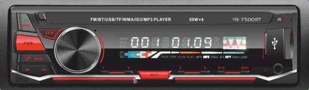 AutoBizarre YB-7500BT Single Din Car Stereo with Bluetooth USB FM AUX TF ID3 MP3 SD Card Support Car Stereo