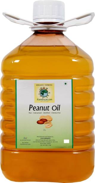 iFarmerscart Groundnut | Peanut Oil Groundnut Oil Plastic Bottle