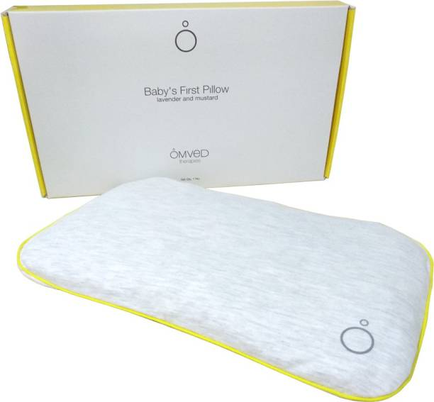 Omved Mustard Seeds Solid Baby Pillow Pack of 1