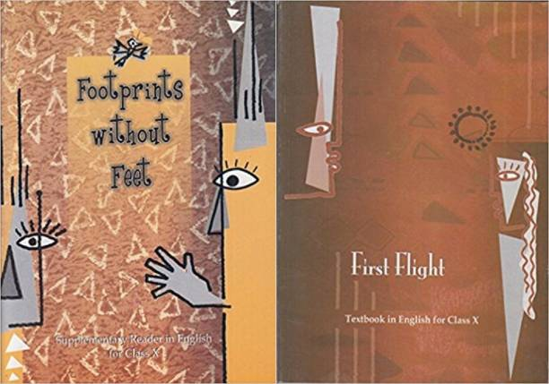 Footprints Without Feet - Supplementary Reader And First Flight For English Textbook For Class - 10 ( Set Of 2 Books )