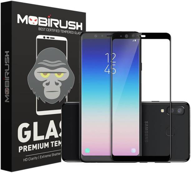 MOBIRUSH Edge To Edge Tempered Glass for Samsung Galaxy A8 Star