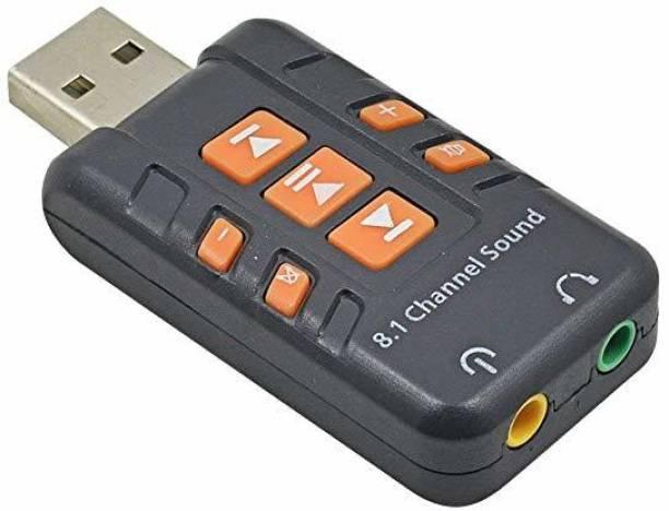 RIVOXX External USB 2.0 Virtual 8.1 Channel CH 3D Audio Sound Card Converter Adapter USB Adapter